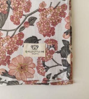 Dear Little One Muslins baby blanket set in Hibiscus at Nurture