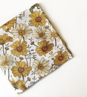 Hello Little One - 4 Piece Muslin Baby Blanket Set in Wildflower print at Nurture Collective