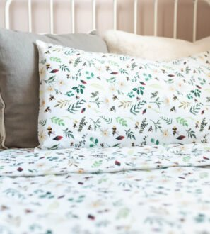 Wild Bee White Toddler Duvet bedding set by Gilded Bird at Nurture Collective