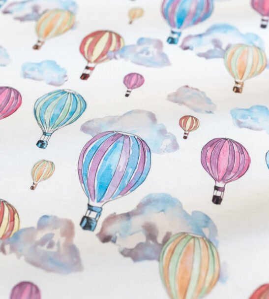 Balloon Festival Fitted Sheet by Gilded Bird at Nurture Collective