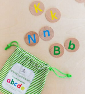 Alphabet Wooden Matching Pairs by Educational Advantage at Nurture Collective
