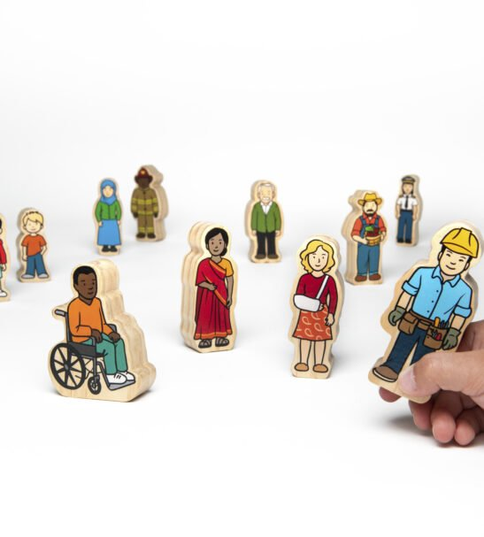 wooden village people by Educational Advantage at Nurture Collective