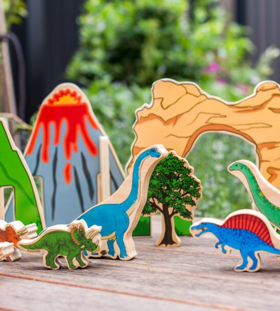 Happy Architect Dinosaur wooden play set by Educational Advantage at Nurture Collective