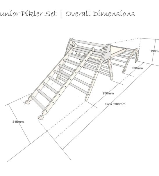 Large Junior Pikler InspiredTriangle, Slide and climb ladder and arch Set by Ligneus Play at Nurture Collective