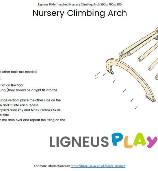 Nursery Pikler Inspired Rocker Arch Assembly Instructions by Ligneus Play at Nurture Collective