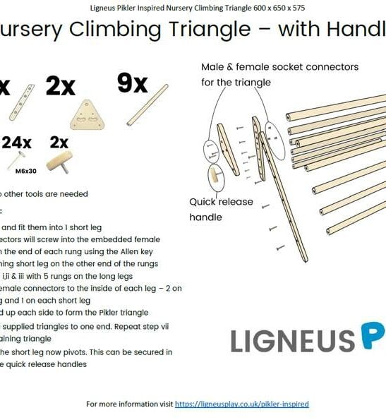 Nursery Pikler InspiredTriangle Instructions by Ligneus Play at Nurture Collective