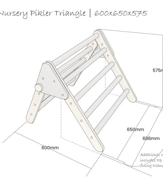 Nursery Pikler inspired Triangle assembly instructions by Ligneus Play at Nurture Collective