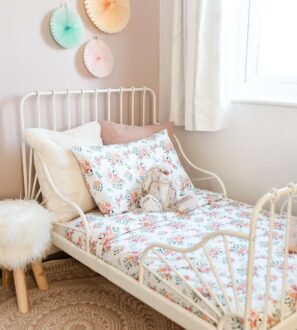 Pretty Stem Toddler Duvet organic cotton organic cotton bedding set by Gilded Bird at Nurture Collective