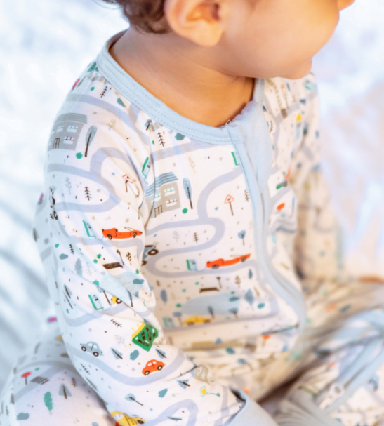 Zipster Road Trip Baby Grow at Nurture Collective