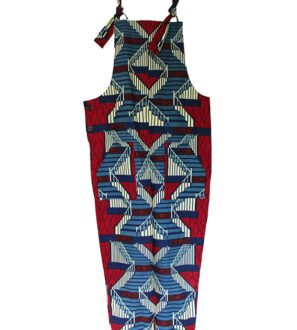 African Print Adult Dungarees - Staircase by Amamama at Nurture Collective